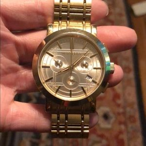 Burberry Watch barely used still new condition!